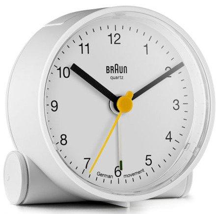 Budzik BRAUN alarm narastający biały mały BNC001WHWH