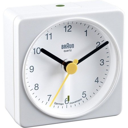 Budzik BRAUN alarm narastający szary mały BNC002WHWH