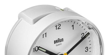 Budzik BRAUN podświetlenie drzemka 7 cm BC01W
