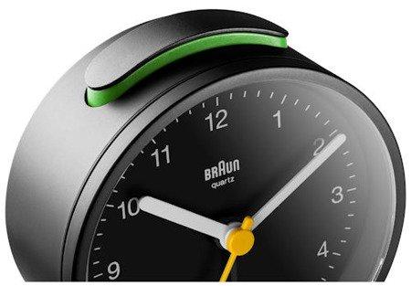 Budzik BRAUN podświetlenie drzemka alarm narastający BNC012BKBK