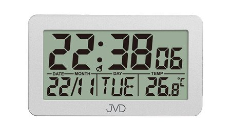 Budzik JVD STEROWANY RADIOWO 5 alarmów temp. RB8203.2