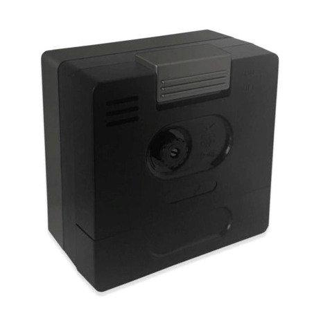 Budzik JVD czarny NEOBRITE mały 6cm LAS3010