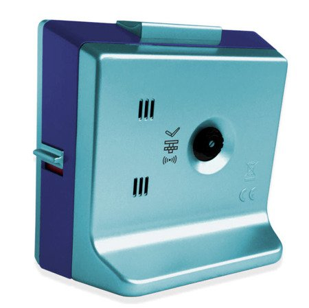 Budzik JVD niebieski cichy NEOBRITE 8,5 cm LAS3030