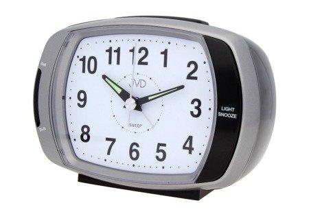 Budzik JVD srebrny alarm 13,5 cm SRP389.2