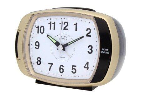 Budzik JVD srebrny alarm 13,5 cm SRP389.3