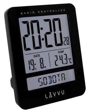 Budzik LAVVU STEROWANY RADIOWO 2 alarmy TERMOMETR LAR0021
