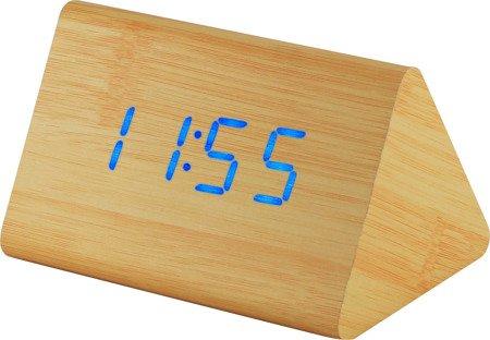 Budzik MPM sieciowy termometr C02.3569.51 BLUE