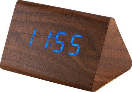 Budzik cyfrowy drewniany termometr 3 alarmy MPM C02.3569.50
