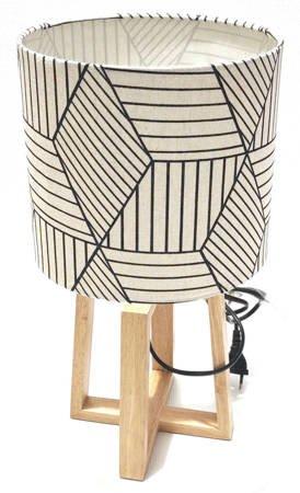 Lampa stojąca, stołowa, drewno loft nowoczesna