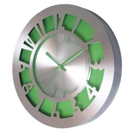 SUPER zegar ścienny ALUMINIUM zielony AL2035GRN SW