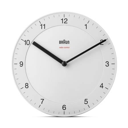 Zegar Braun ścienny biały RADIOWY 20 cm BC06W-RC