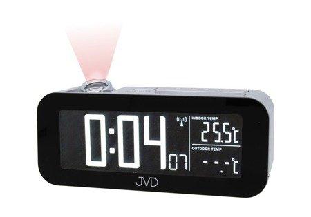 Zegar/Budzik JVD sieciowy DCF77 projektor RB93