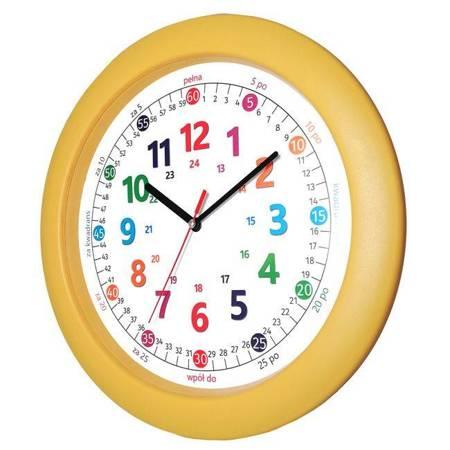 Zegar EDUKACYJNY dla dzieci żółty ATE1029YP SW