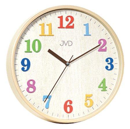Zegar JVD ścienny 29,5 cm dziecięcy CYFRY 3D CICHY nowoczesny HA49.1