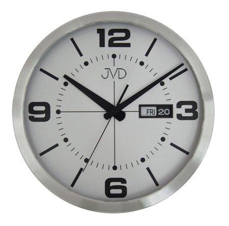 Zegar JVD ścienny ALUMINIUM datwnik HO255.2