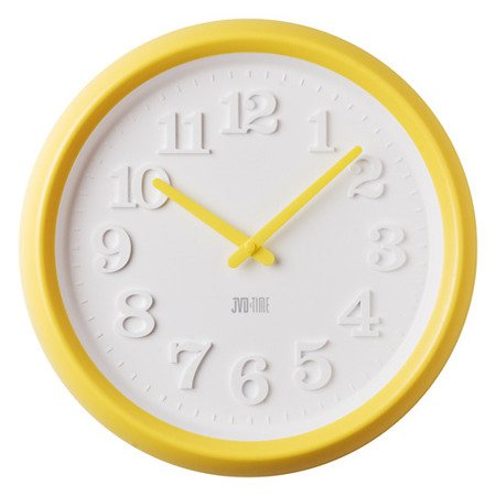 Zegar JVD ścienny CICHY MECHAN żółty 38 cm H102.2