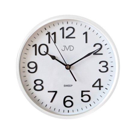 Zegar JVD ścienny CICHY czytelny BIAŁY HP683.6