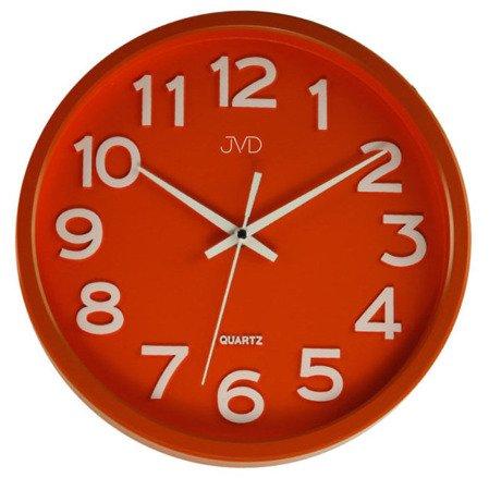 Zegar JVD ścienny CICHY czytelny HX2413.5