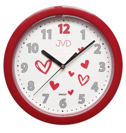 Zegar JVD ścienny CICHY serca HP612.D3