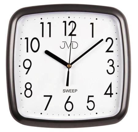 Zegar JVD ścienny CICHY szary CZYTELNY HP615.17