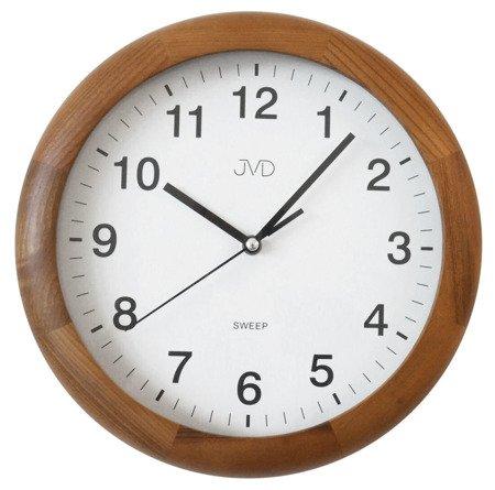 Zegar JVD ścienny DREWNIANY 27 cm NS19020.11