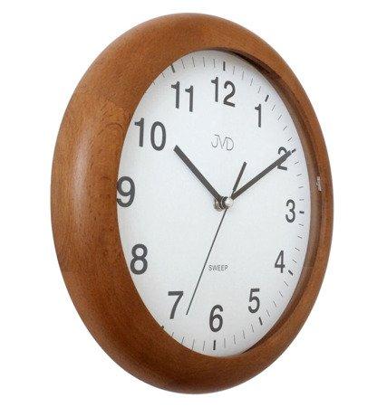 Zegar JVD ścienny DREWNIANY 27 cm NS19020.41