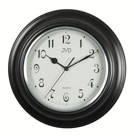 Zegar JVD ścienny DREWNIANY czarny 30 cm N27043.C