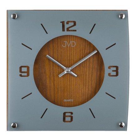 Zegar JVD ścienny DREWNO SZKŁO N28012.11