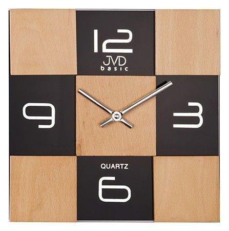 Zegar JVD ścienny DREWNO SZKŁO N29081.3