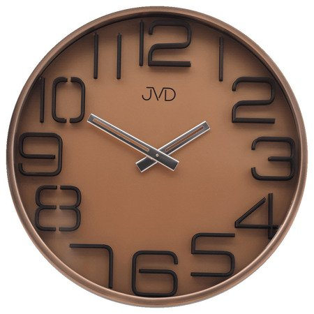 Zegar JVD ścienny METAL MIEDŹ nowoczesny HC18.3