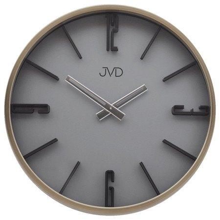 Zegar JVD ścienny METAL ZŁOTO nowoczesny HC17.2