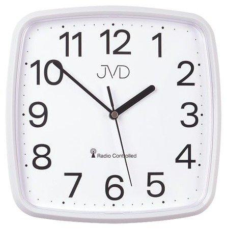 Zegar JVD ścienny STEROWANY RADIOWO 24 cm RH616.1