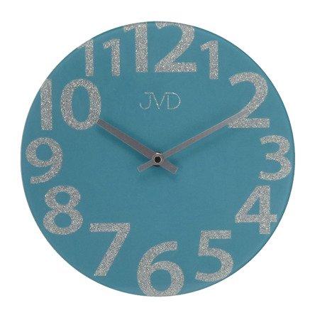 Zegar  JVD ścienny SZKLANY morski nowoczesny HO138.3
