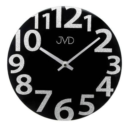 Zegar  JVD ścienny SZKLANY nowoczesny HO138.1