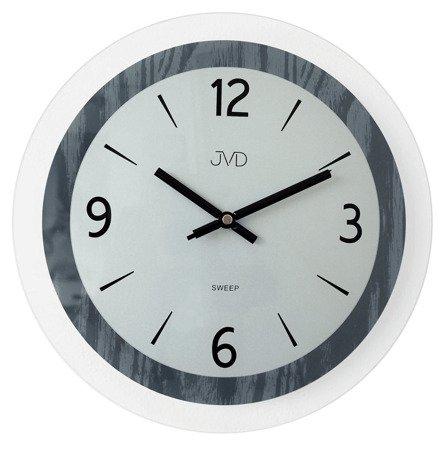 Zegar JVD ścienny SZKLANY szary 30 cm NS19031.2