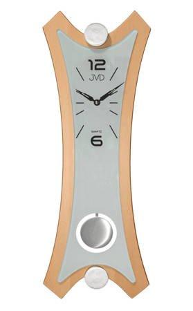 Zegar JVD ścienny Z WAHADŁEM szkło drewno N16010.3