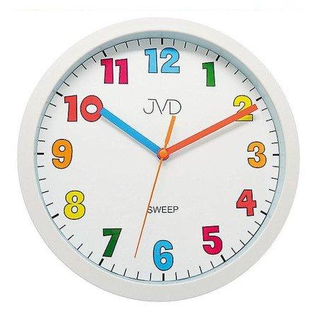 Zegar JVD ścienny dziecięcy 25 cm biały HA46.3