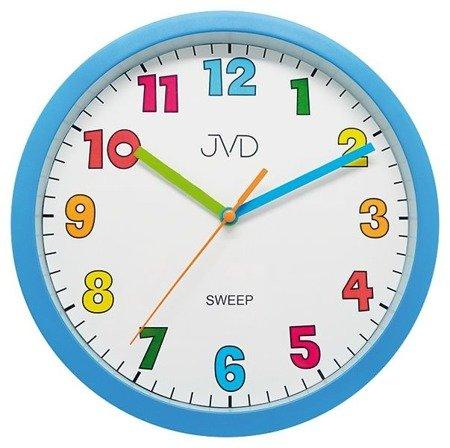 Zegar JVD ścienny dziecięcy 25 cm niebieski HA46.1