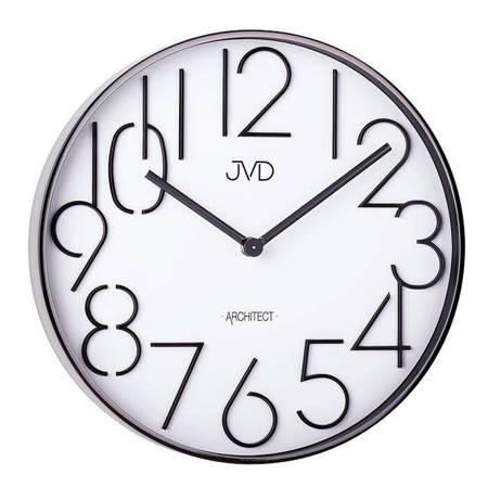 Zegar JVD ścienny grafitowy METAL 30 cm HC06.2