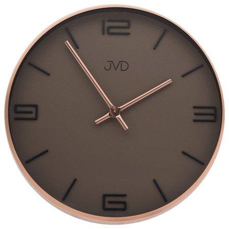 Zegar JVD ścienny nowoczesny METAL MIEDŻ HC19.1