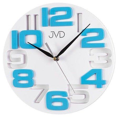 Zegar JVD ścienny nowoczesny cyfry 3D H107.6