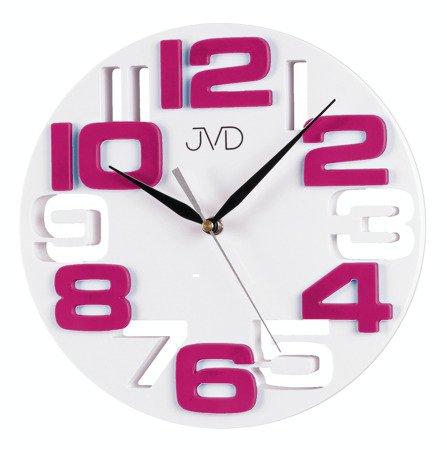 Zegar JVD ścienny nowoczesny cyfry 3D HT107.7