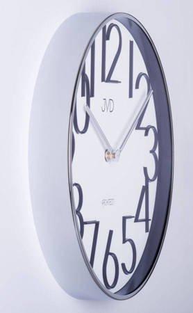 Zegar JVD ścienny srebrny METAL 30 cm HC06.1