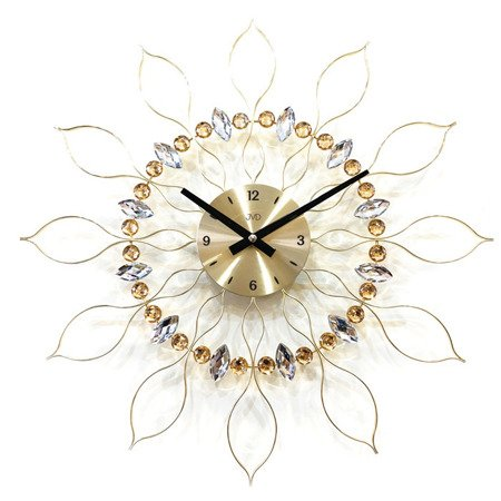 Zegar JVD ścienny złoty DUŻY 49 cm HT106.1