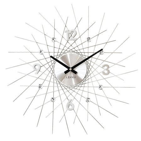 Zegar LAVVU ścienny KRYSZTAŁY duży 50 cm LCT1050