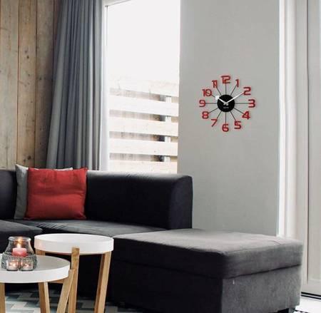 Zegar LAVVU ścienny metal czerwony 37 cm LCT1043