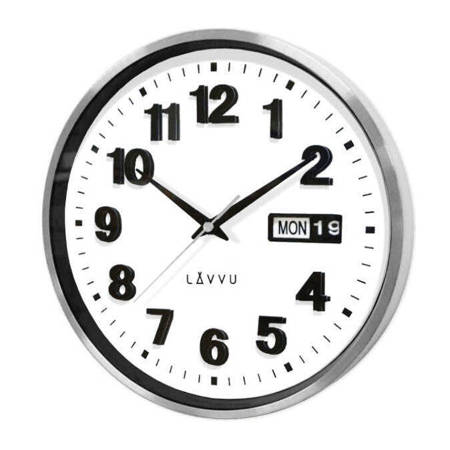 Zegar LAVVU ścienny metalowy srebrny 30 cm LCT4050