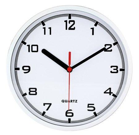 Zegar MPM ścienny 20 cm biały nowoczesny czytelny E01.2477.00