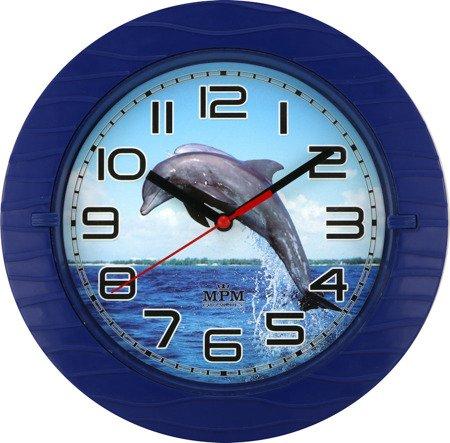 Zegar MPM ścienny 22cm dziecięcy CICHY E01.3687.30