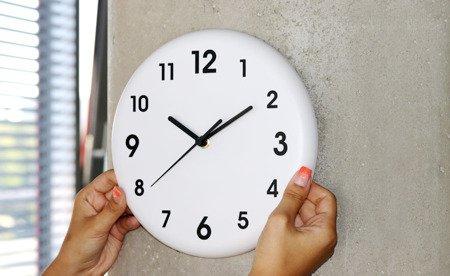 Zegar MPM ścienny 24 cm biały nowoczesny E01.3691.00